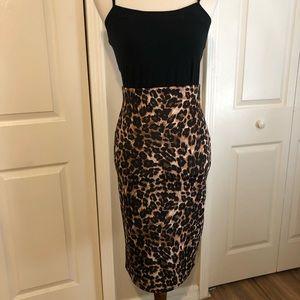 Dresses & Skirts - Jaguar print pencil skirt